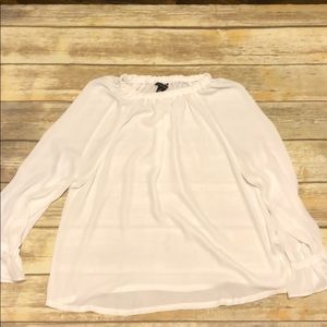 White Banana Republic polyester top